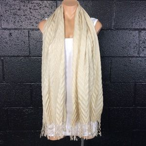 Accessories - Tan Zig Zag Scarf